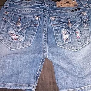 MISS Me MidRise Bermuda Jean Shorts Sz 26